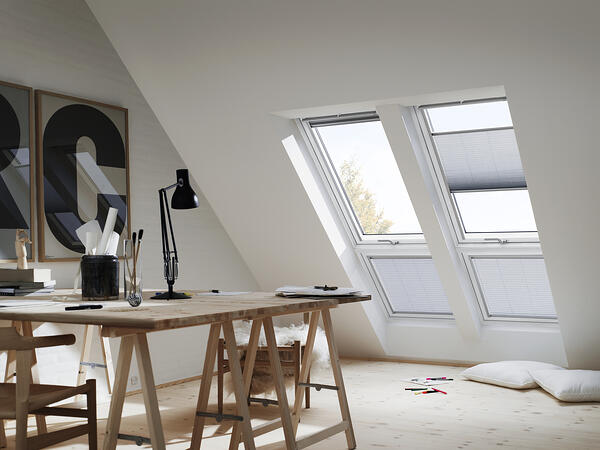Home office in a loft conversion