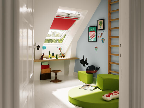 The kids will love having an attic bedroom retreat