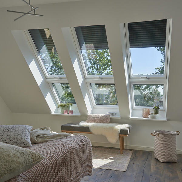 A loft or attic conversion is perfect for a master bedroom suite