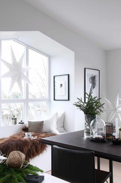 Scandi style Christmas decor in loft