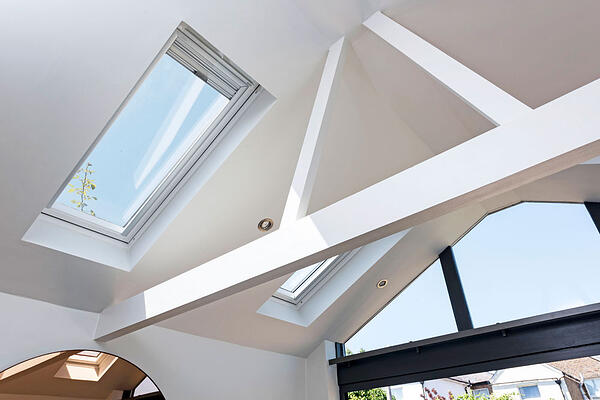 Roof windows let in loads of natural light