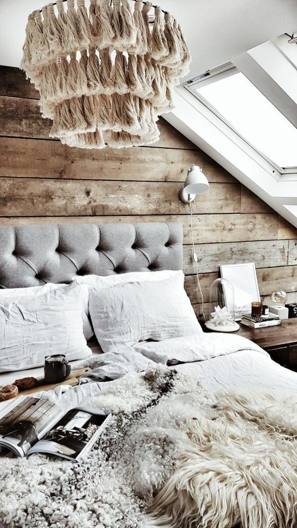 Rebecca's modern rustic loft bedroom