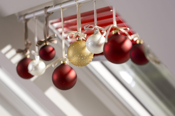 Loft window Christmas decorations