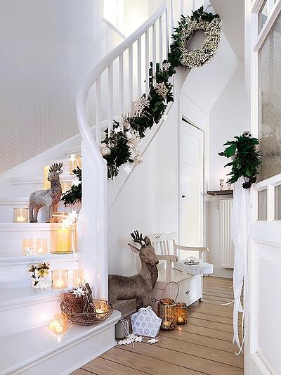 Add decorations to a staircase