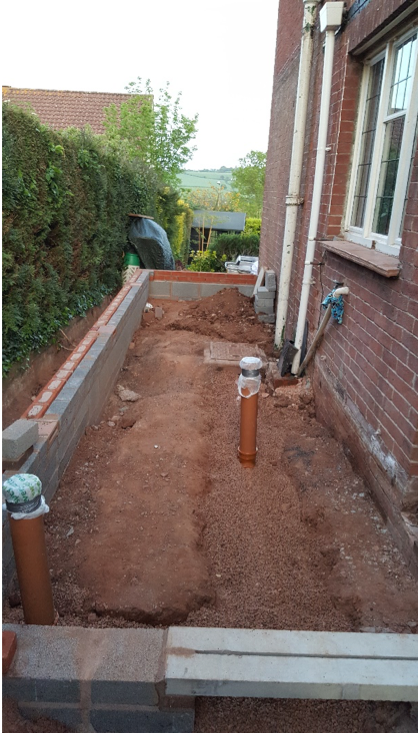 Drains getting dug out