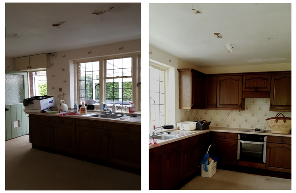 The Frost kitchen before the extension