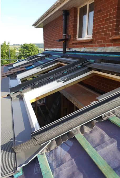 The VELUX windows are installed