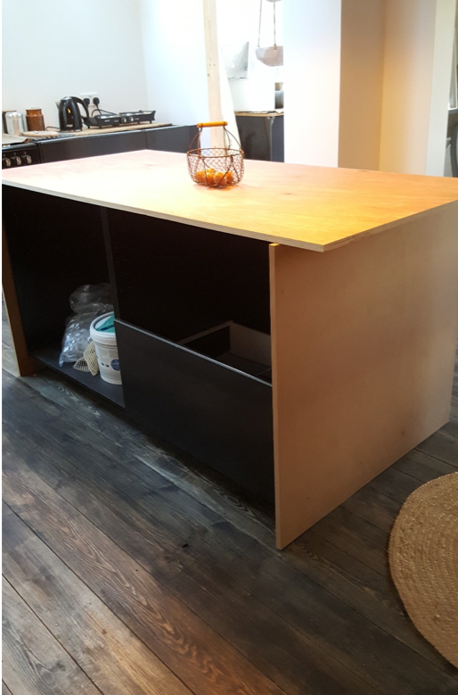 Building the kitchen island