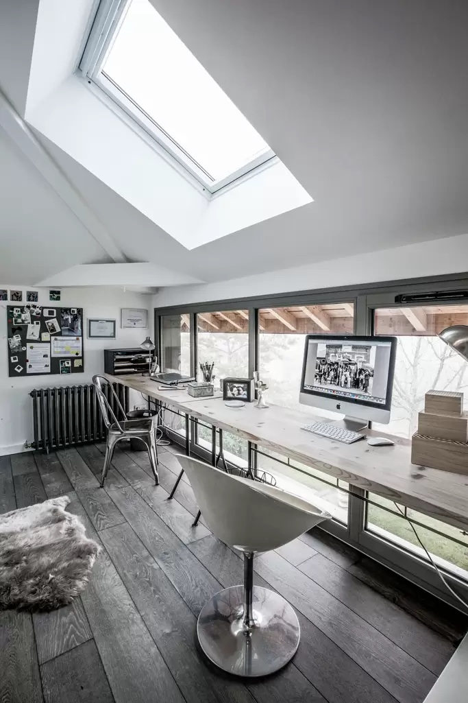This loft conversion is used for an office