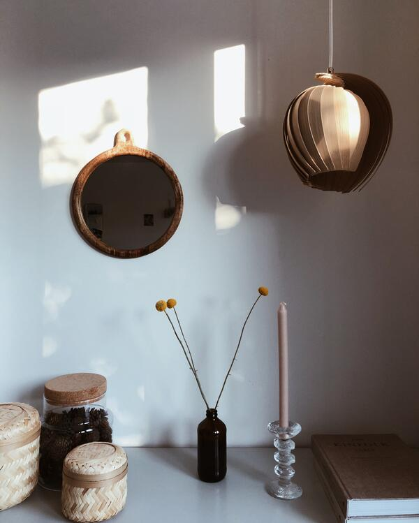 Natural light in Niina's study