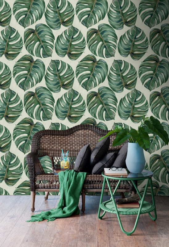 Tropical Leaf Wallpaper by MINDTHEGAP from Lime Lace