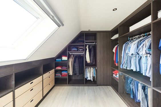 A dedicated dressing room with VELUX roof windows