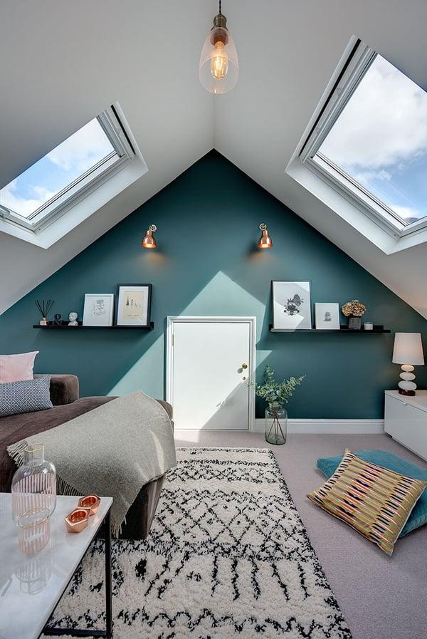 TV snug with VELUX roof windows