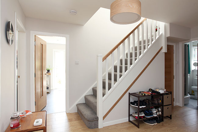 The stairs leading up to the loft conversion